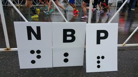NBP symbraille signs at Marathon